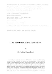 The Adventure of the Devil