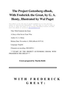 With Frederick the Great - A Story of the Seven Years