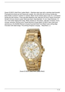 Guess G13537L Gold Prism Ladies Watch Watch Review