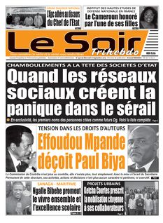 Le Soir Cameroun du 18-09-2019
