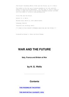 War and the future: Italy, France and Britain at war