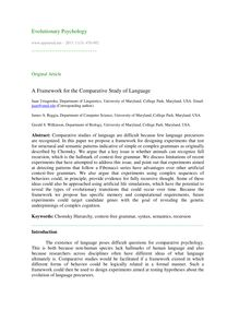 A framework for the comparative study of language