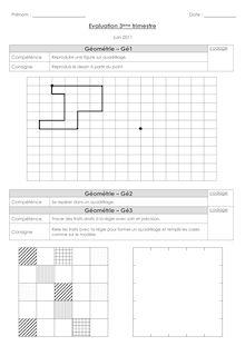 Géométrie CP – Evaluations de fin de 3ème période
