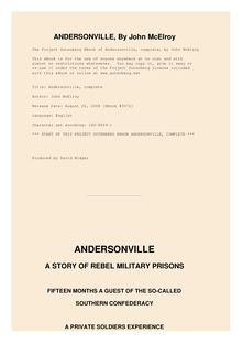 Andersonville - A Story of Rebel Military Prisons