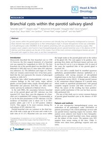 Branchial cysts within the parotid salivary gland