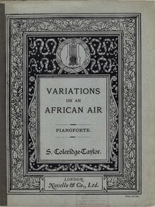Partition Color Covers, Variations on an African Air, Op.63, Variations on an African Air for Orchestra