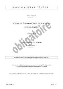 Baccalauréat Sciences Économiques et Sociales - Série ES, obligatoire
