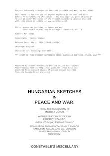 Hungarian Sketches in Peace and War - Constable