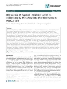 Regulation of hypoxia inducible factor-1α expression by the alteration of redox status in HepG2 cells