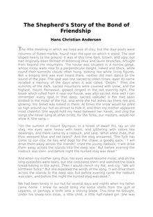 The Shepherd's Story of the Bond of Friendship