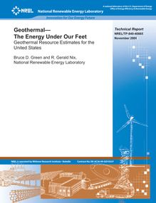 Geothermal -- The Energy Under Our Feet: Geothermal Resources ...