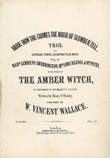 Partition Trio: Hark! How pour Chimes pour Hour of Slumber Tell., pour Amber Witch