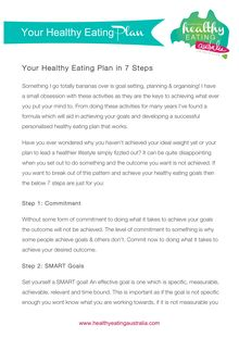 Your Healthy Eating Plan in 7 Steps