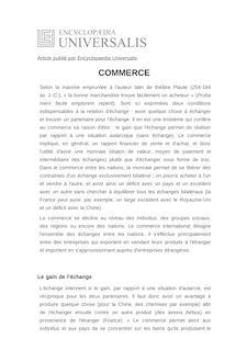 Définition de : COMMERCE - Jean-Louis MUCCHIELLI