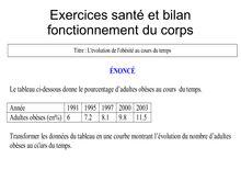 Exercices santé et fonctionnement du corps - SVT 5e