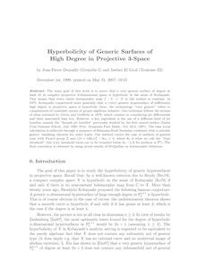 Hyperbolicity of Generic Surfaces of High Degree in Projective Space