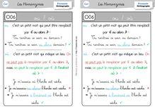 Orthographe / Grammaire / Vocabulaire CE1 – Préparations de dictées et leçons - Leçon ou où