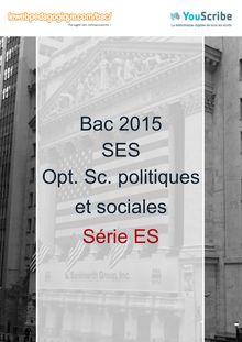 Corrigé - Bac 2015 - SES - Spécialité Sciences po