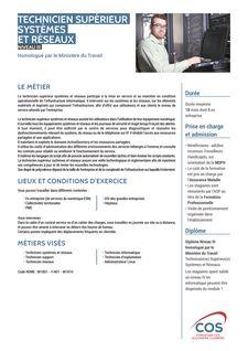 Technicien Supérieur Systèmes et Réseaux -
