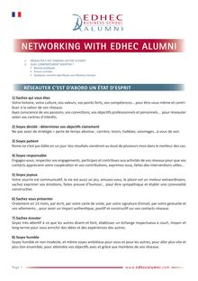 guide Networking With EDHEC Alumni