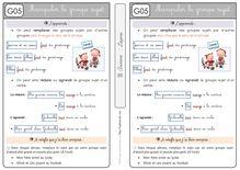 Etude de la langue CE1 – Grammaire (màj) - A partir de RSEEG Leçon Manipuler le groupe sujet