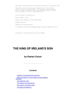 The King of Ireland