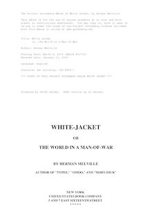 White Jacket - or, the World on a Man-of-War