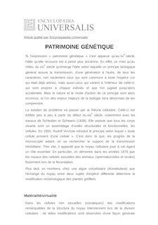 Définition et synonyme de : PATRIMOINE GÉNÉTIQUE - STEPHANE SCHMITT
