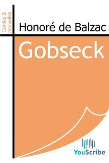 Gobseck de Honoré de Balzac - fiche descriptive