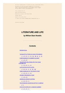 Literature and Life (Complete)