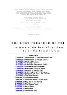 The Lost Treasure of Trevlyn - A Story of the Days of the Gunpowder Plot