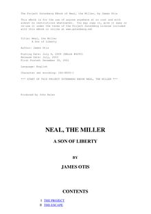 Neal, the Miller - A Son of Liberty