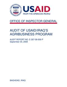 AUDIT OF USAID MONGOLIA'S ECONOMIC POLICY REFORM AND COMPETITIVENESS